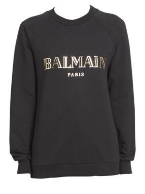 Long Sleeve Logo Sweatshirt by Balmain