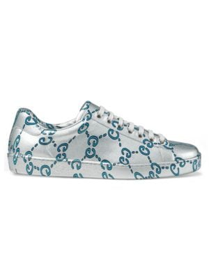 Ace Gg Coated Leather Sneaker by Gucci