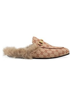 a027ab02806 Princetown Lamb Fur Slippers RUST NATURAL. QUICK VIEW. Product image. QUICK  VIEW. Gucci