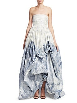 cc2c8b69b4c51 Oscar de la Renta. Strapless High-Low Gown