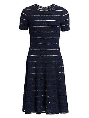 f7ea1b117b1 Halston Heritage - Cap Sleeve Satin Stripe Cocktail Dress - saks.com