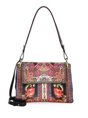 ETRO Printed Ribbon Floral Shoulder Bag
