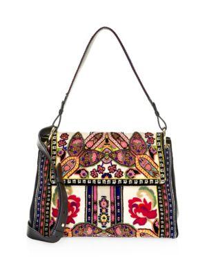 ff26ca4936 Etro Floral Ribbon Velvet Shoulder Bag
