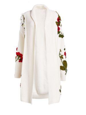 Floral Cardigan Coat by Oscar De La Renta
