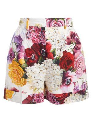 Poplin Floral Shorts
