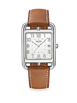 f3abc88dd HERMÈS. Cape Cod Stainless Steel   Leather Strap Watch