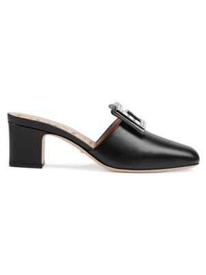 Madelyn Leather Mules by Gucci
