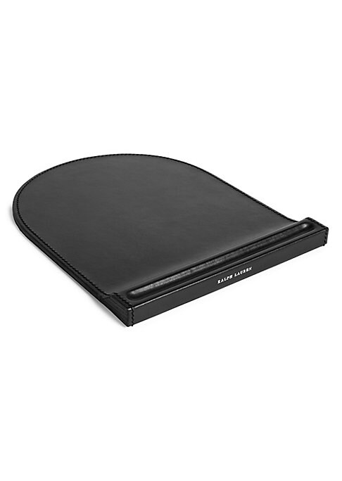 """Image of From the Brennan Collection. Inspired by Ralph Lauren's timeless leather accessories, the understated design of this mouse pad emphasizes its finely grained calfskin and hand-stitched details. Leather. Imported. SIZING.7.5""""W x 0.5""""H x 9.25""""D."""