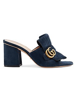 bf49b0bb5d0 Marmont Suede Sandals NAVY. QUICK VIEW. Product image. QUICK VIEW. Gucci