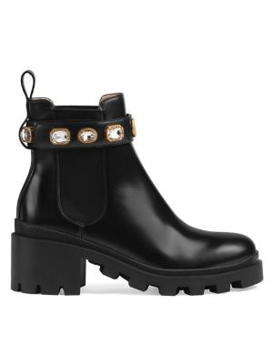 616a3fe6a Gucci - Patent Leather Ankle Boot With Double G - saks.com