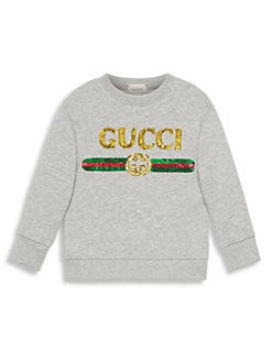 aa864b99 QUICK VIEW. Gucci. Little Girl's & Girl's Rainbow Sequin Logo Sweatshirt