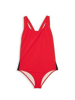 63e32810faf0b QUICK VIEW. Gucci. Little Girl's & Girl's Side Stripe One-Piece Swimsuit