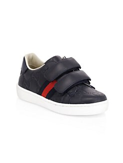 3beee6f6de7 QUICK VIEW. Gucci. Baby s   Kid s Grip-Tape Leather Sneakers
