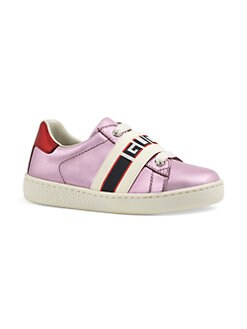 ef877b3f549 Product image. QUICK VIEW. Gucci. Baby Girl s New Ace Logo Strap Leather  Sneakers