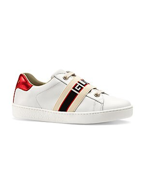 3a71502fc93 Gucci - Kid s New Ace Leather Sneakers