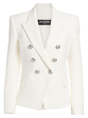 Double Breasted Cotton Blazer by Balmain