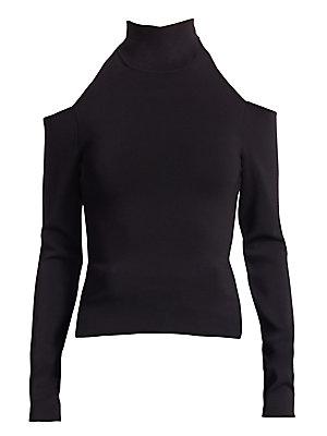 4808a5e96446c Alexander Wang - Turtleneck Shoulder Cutout Long Sleeve Top