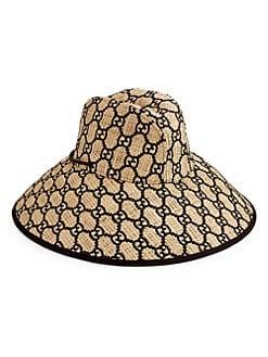01fbd92a2fbbc Gucci. GG Embroidered Wide Brim Hat