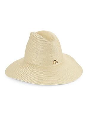 a70461ae6ccc6 Gucci - Wide Brim Papier Hat - saks.com