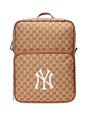 7a4dfcad3ba  1450 Gucci Men s Medium Backpack with NY Yankees™ Patch - Beige Ivory
