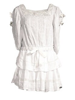 3be544edcbd Dorothy Cotton Eyelet Dress ANTIQUE WHITE. QUICK VIEW. Product image