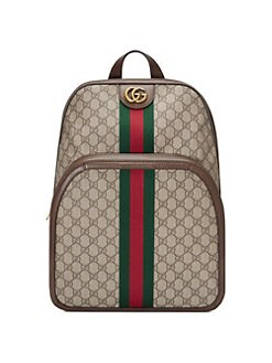 146e32d5a79c Gucci Print Leather Backpack.  1980.00 · Medium Ophidia GG Backpack BEIGE.  QUICK VIEW. Product image