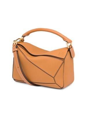 Loewe Women's Mini Puzzle Leather Bag In Tan