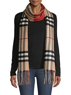 06f8f055a49b Burberry. Reversible Check Cashmere Scarf