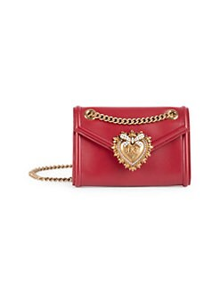 b7a1d60d28 QUICK VIEW. Dolce   Gabbana. Mini Devotion Leather Crossbody Bag