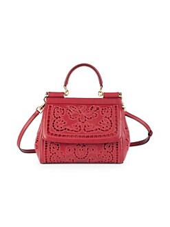 a38ad9c9423 Product image. QUICK VIEW. Dolce   Gabbana. Small Lace Sicily Tote Bag