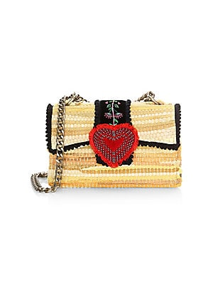 Kooreloo - Divine Petite Embroidered   Woven Chain Crossbody Bag ... 909d8dbf496f8