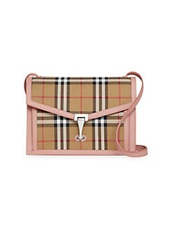 dbe6c6101f9 QUICK VIEW. Burberry. Small Macken Leather   Vintage Check Crossbody Bag
