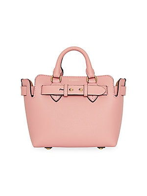 Baby Belt Trim Leather Satchel by Burberry