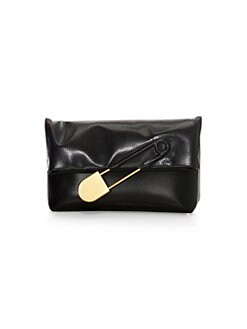 e34f027bd314 QUICK VIEW. Burberry. Medium Safety Pin Leather Clutch