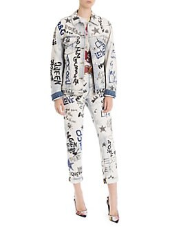 3b5b0f82472 Dolce   Gabbana. Denim Graffiti Jacket