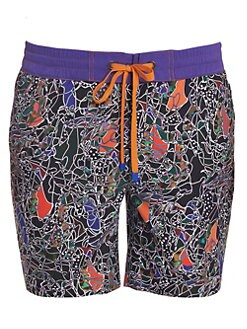 7d3bd4c019 Robert Graham. The Great Place Abstract Print Swim Shorts