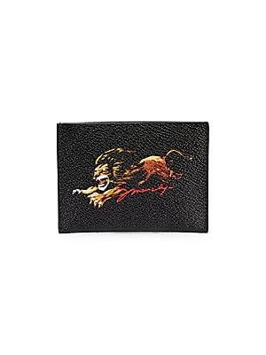 0276345f3de Givenchy - Lion Print Card Case - saks.com