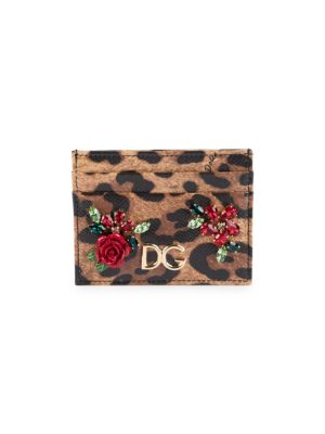 Leo Floral Card Case by Dolce & Gabbana