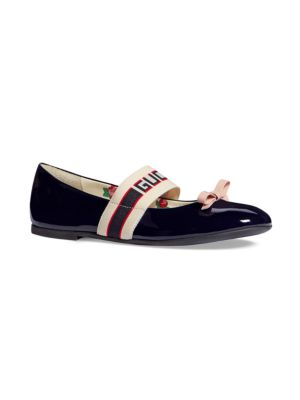 Gucci Little Girl S Girl S Mimi Leather Ballerina Flats
