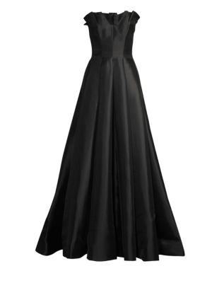 BASIX BLACK LABEL Ruffled Strapless Gown in Black