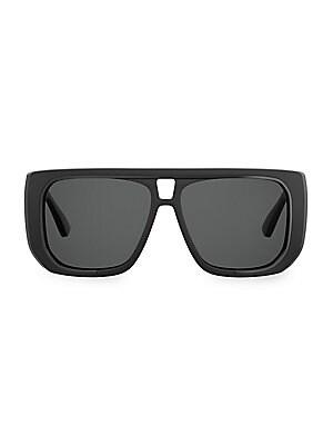 7d8a55df43e57 Moschino - 58MM Oversized Metal Square Sunglasses - saks.com