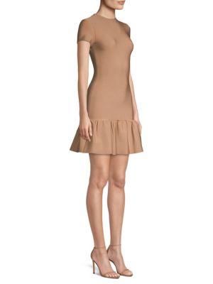 MISHA COLLECTION Hazel Peplum Bodycon Dress in Dusty Rose
