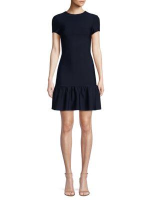 MISHA COLLECTION Hazel Peplum Bodycon Dress in Navy