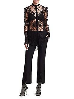 3d9f05270d02 Alexander McQueen. Puff Sleeve Lace Shirt