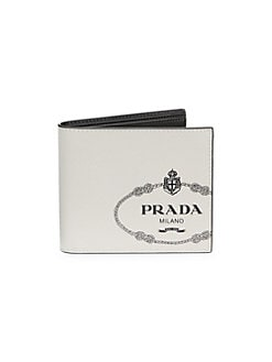 01de1452e8a8 Saffiano Leather Billfold Wallet WHITE BLACK. QUICK VIEW. Product image