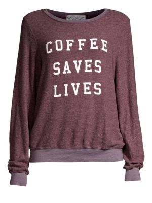 Wildfox Coffee Saves Lives Sweatshirt