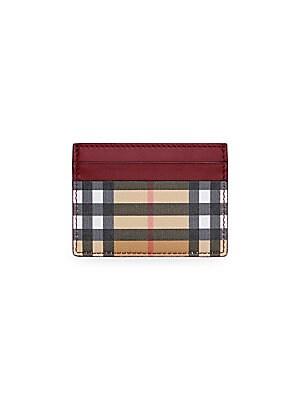 c148b6c5c9ff Burberry - Vintage Check   Leather Folding Wallet - saks.com