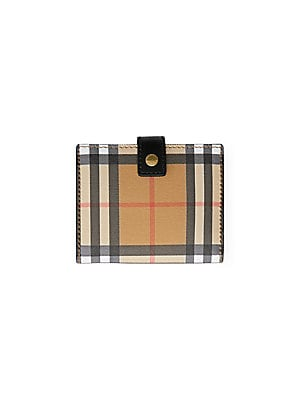 a65cab0bf748 Burberry - Vintage Check   Leather Folding Wallet - saks.com