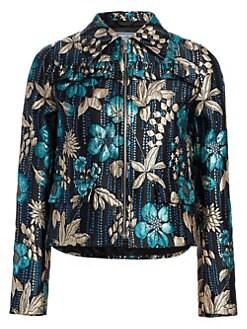 61a1761447d89 QUICK VIEW. Prada. Cloquet Flower Ruffle Jacket
