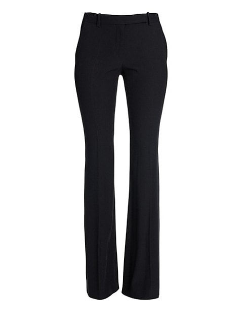 Narrow Bootcut Crepe Trousers